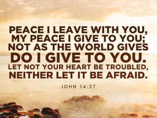 Peace I leave with you!