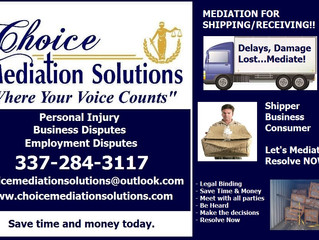 "Shipping Delays - Damage - Lost "" Mediation"