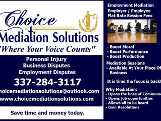 Employee / Employer Mediation Sessions