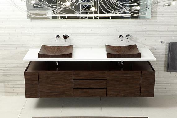 Lavabo in legno, Laguna Pure, Alegna, lavabo di lusso