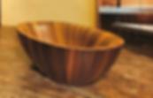 Vasca in legno, Laguna Pearl, Alegna, vasca lusso