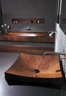 Laguna Pure, Alegna, wooden basin, furniture