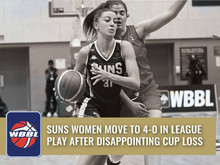 SUNS WOMEN MOVE TO 4-0 IN LEAGUE PLAY AFTER DISAPPOINTING CUP LOSS