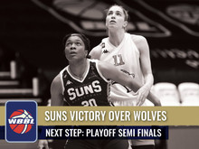 SUNS VICTORY OVER WOLVES TO MOVE ON TO THE PLAYOFF SEMI-FINALS