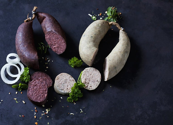 Traditional white pudding