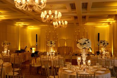 Amber full room up-lighting