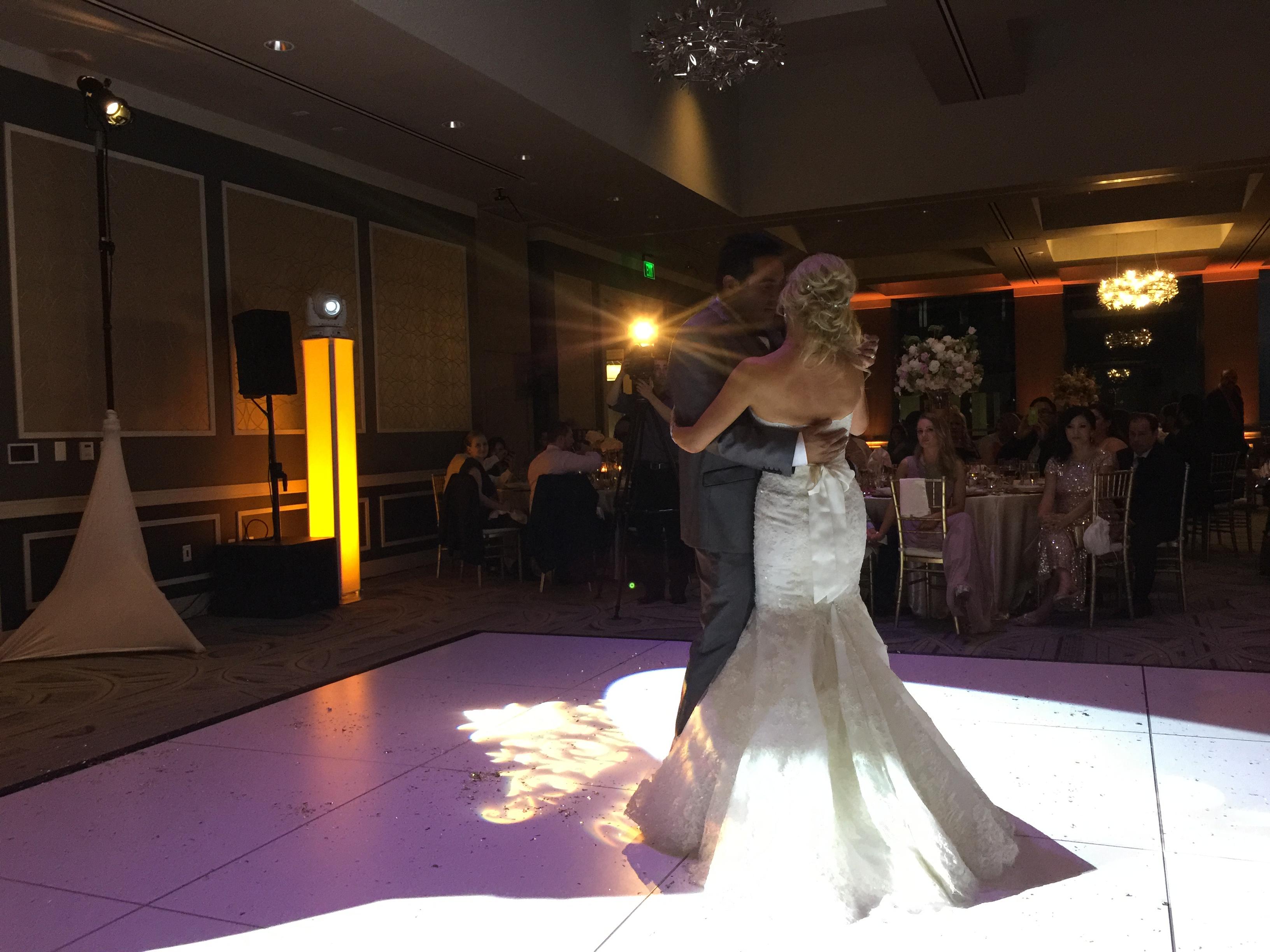 Spot-lit first dance