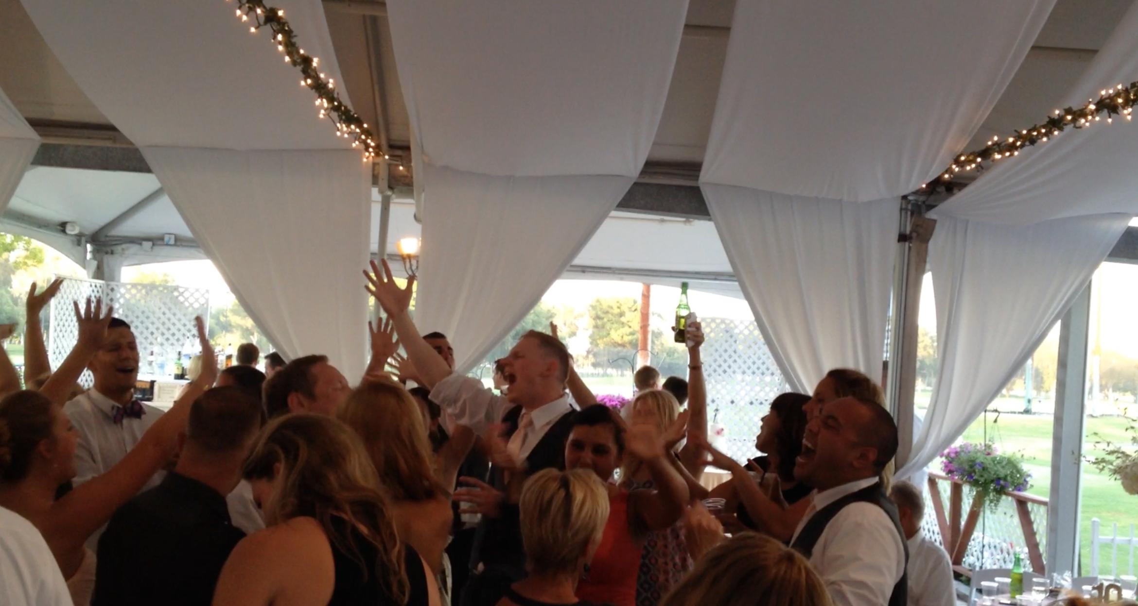 Long Beach tent wedding