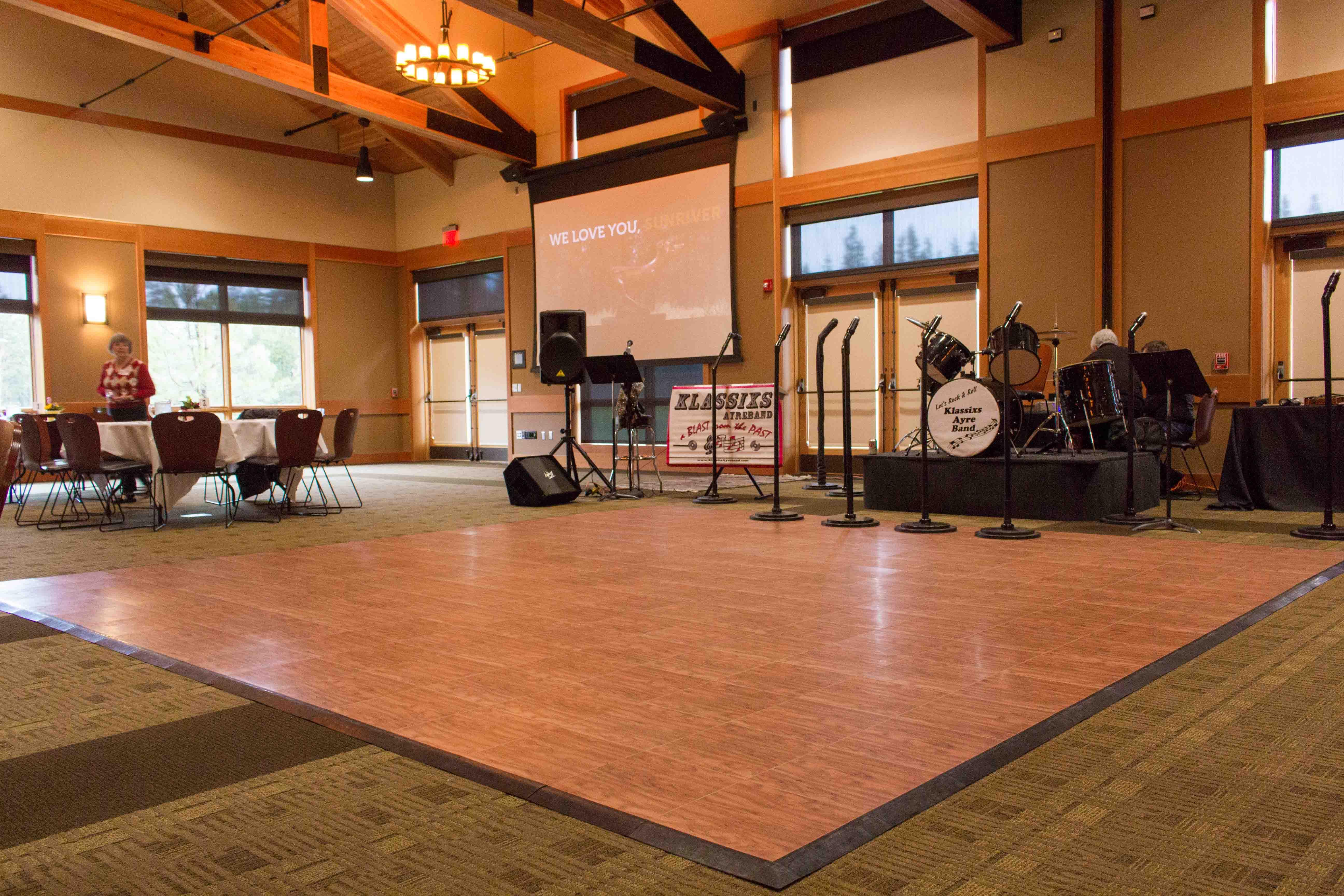 Benham Hall Dance Floor
