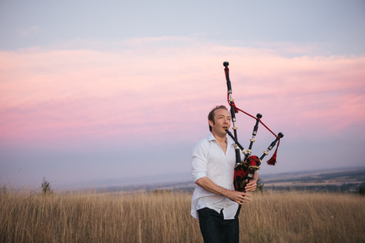 David Brewer, Bagpiper. Thistledown Photography