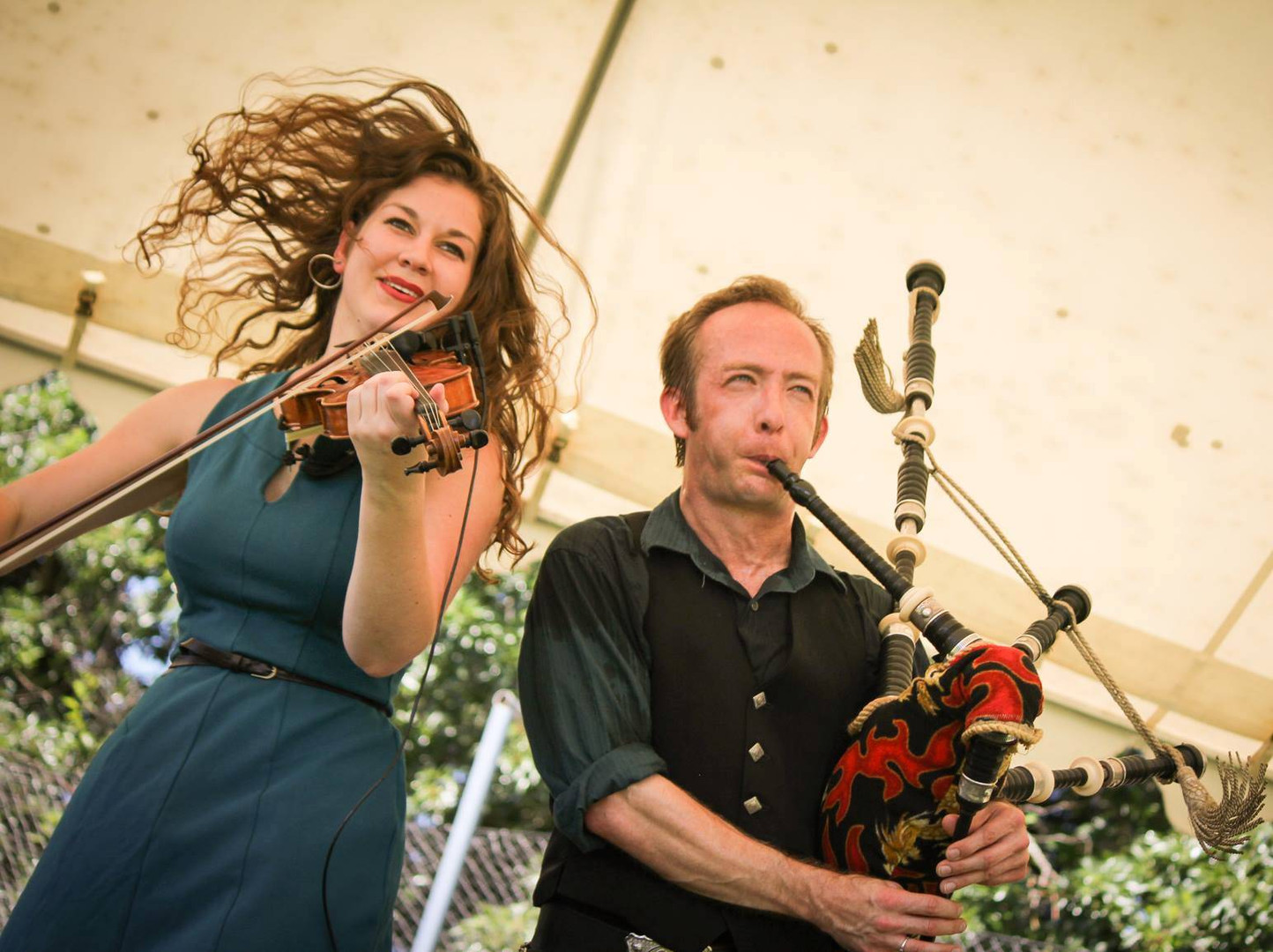 David Brewer & Rebecca Lomnicky at the Portland Highland Games. Kerry McQuaid Photography