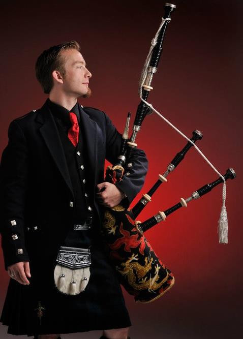 David Brewer kilted portrait. Paul Schraub Photography