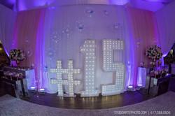 Sweet 15 birthday decor