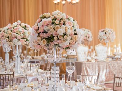 rose gold and blush wedding