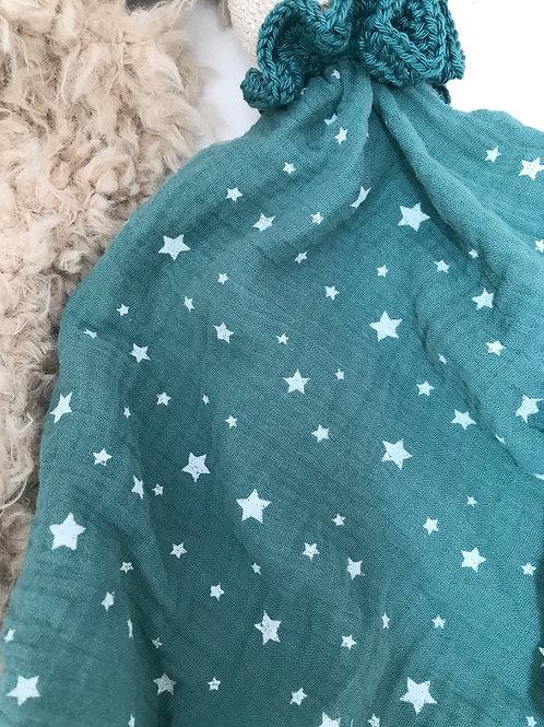 Doudou étoile bleu LAPIN ou LION