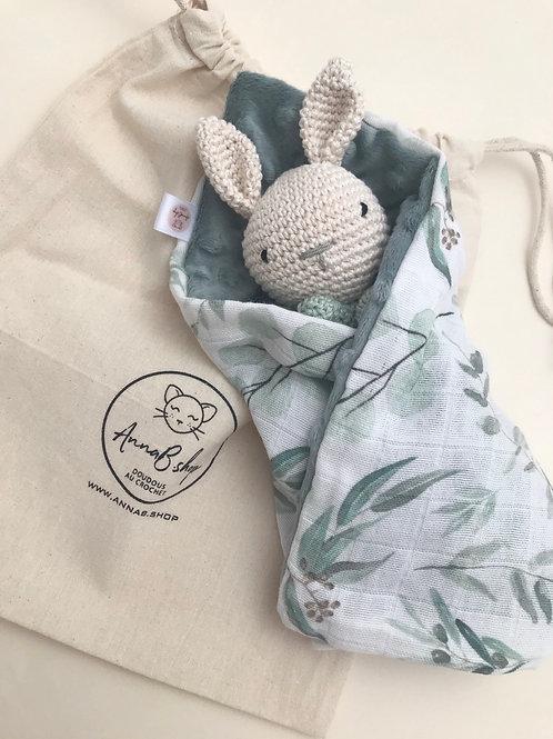 Doudou lapin eucalyptus