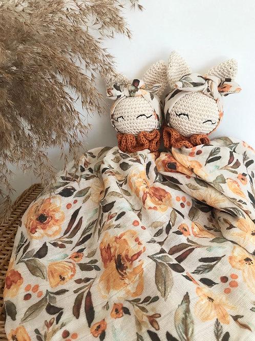 Doudou Lapinette «automne fleuri»