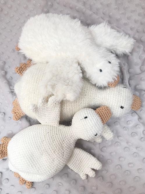 Peluche oie fourrure