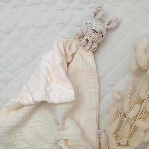Doudou lapin écru