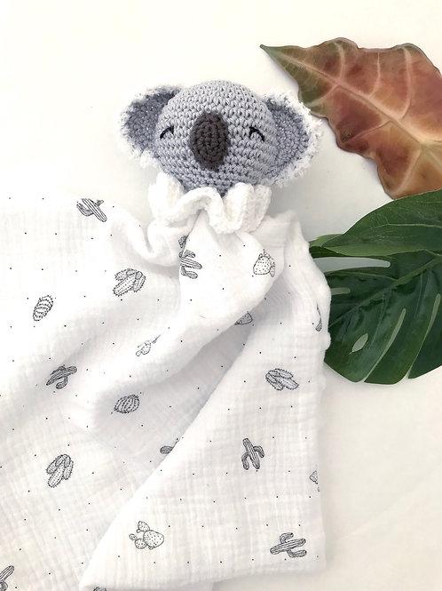 Doudou koala blanc