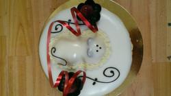 Gâteau fondant souris