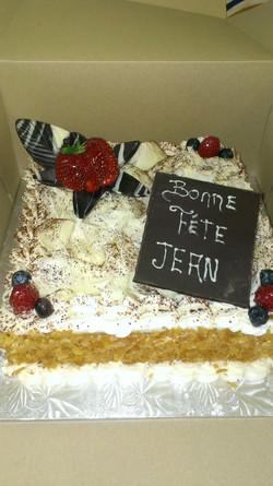 Gâteau framboisier