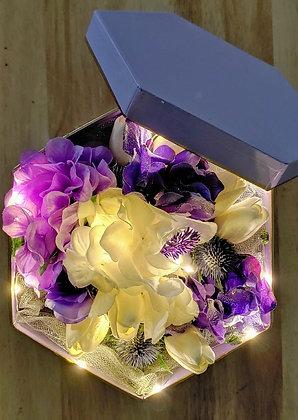 PURPLE FLOWER BOX