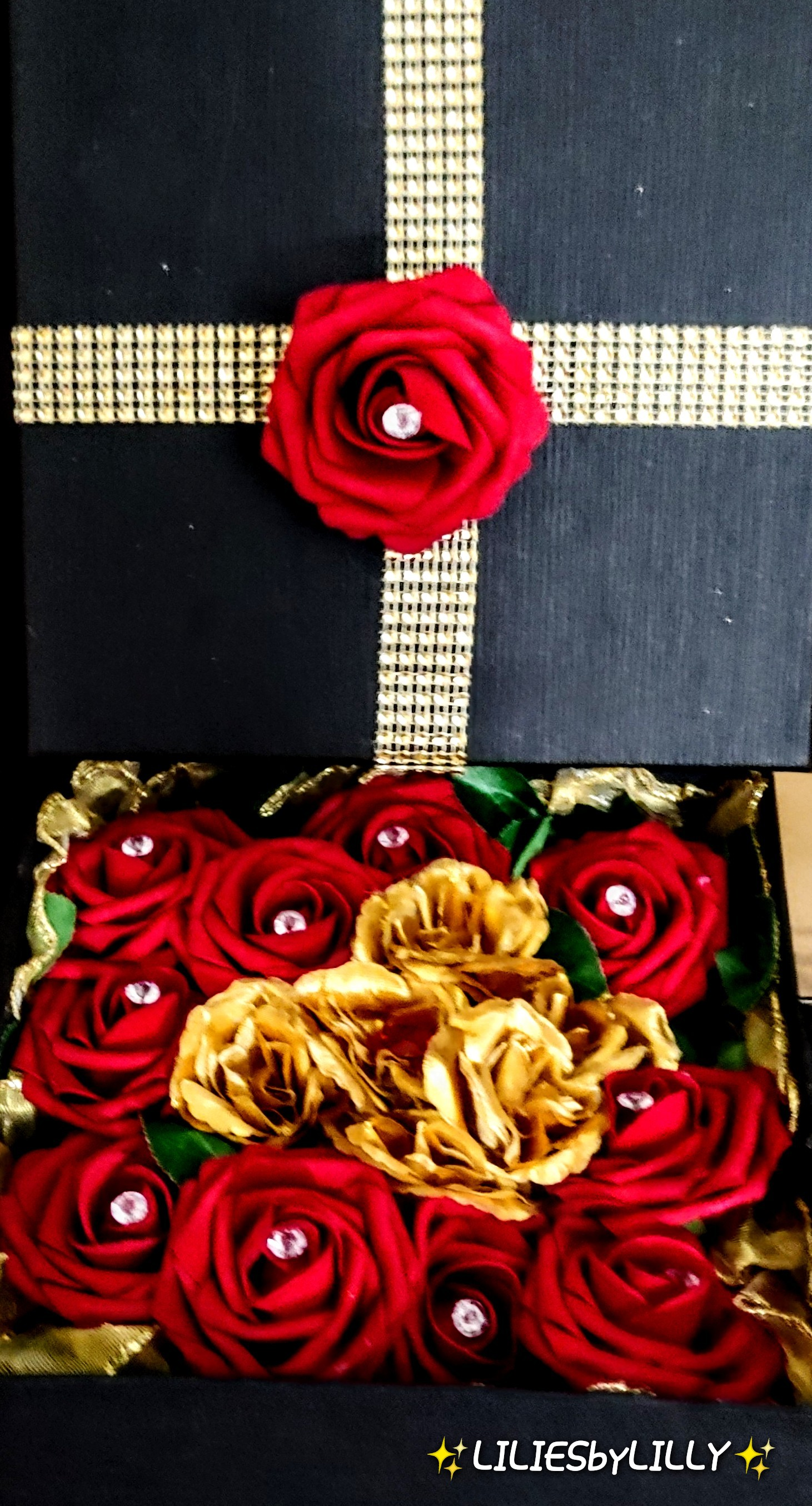 RED ROSE DIAMOND BOX