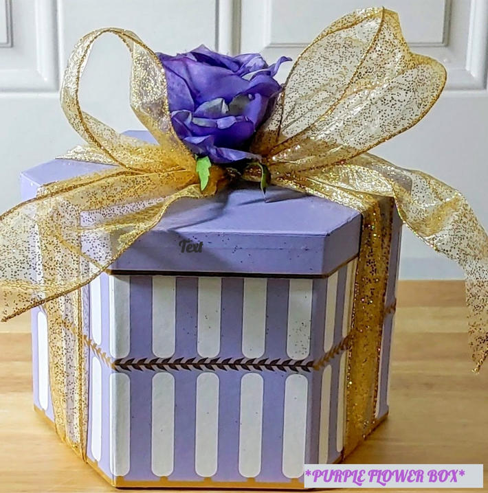 PURPLE FLOWER BOX