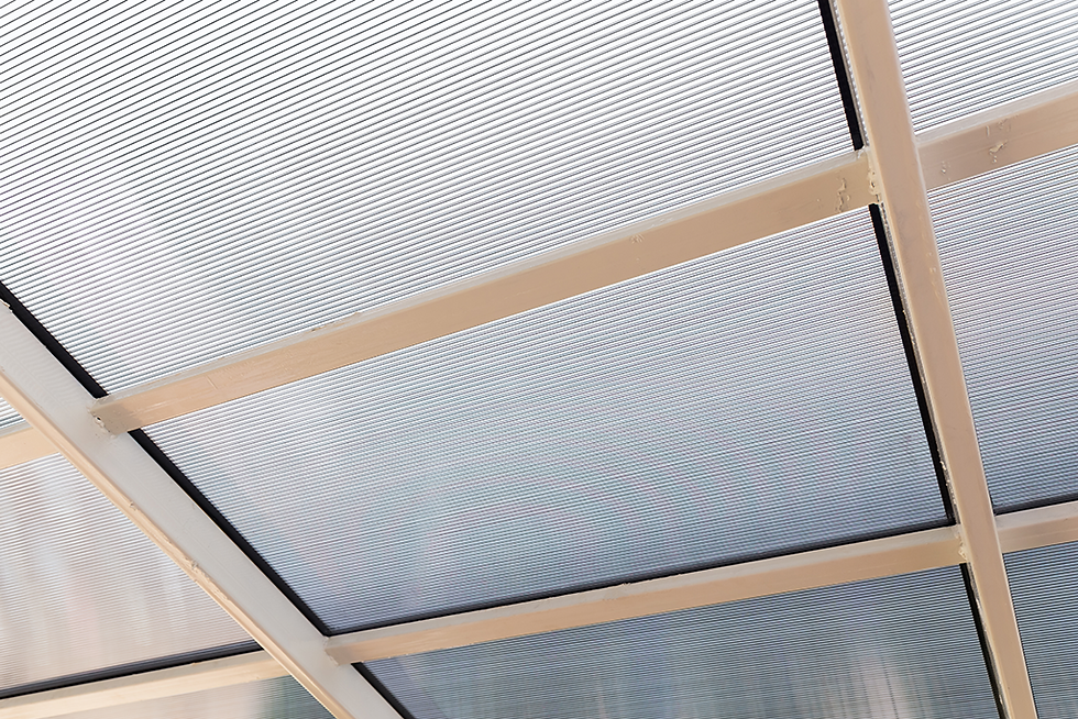 Polycarbonate roofing example