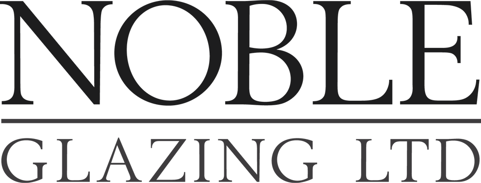 Small Noble Glazing Ltd Logo on contact banner