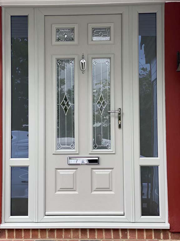 Main entrance door in white