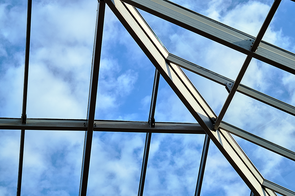 Glass roofing example