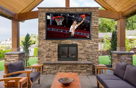 86 HT fireplace with basketball logo Cro