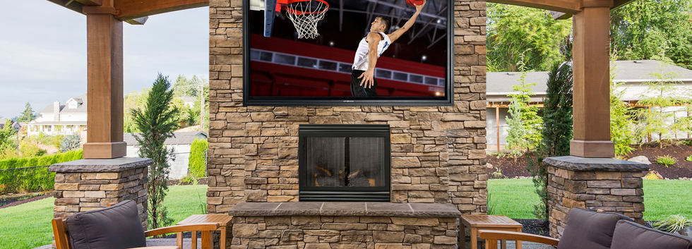 86 HT fireplace with basketball logo Cro