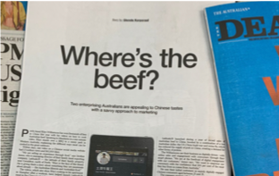 'Where's the beef?' - Latitude 28 featured in The Deal magazine in The Australian
