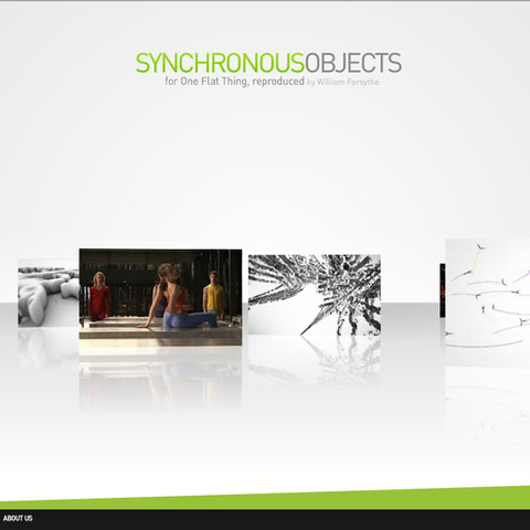 Synchronous Objects (2009) opening interface of online visualization project for choreographic data