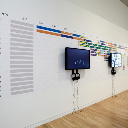 Museum exhibition for Synchronous Objects (2009), Wexner Center for the Arts