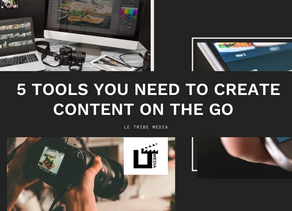 5 Tools You Need to Create Content on the Go