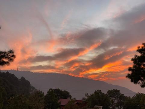 Sunset at Pine Crest Ménage, Kasauli