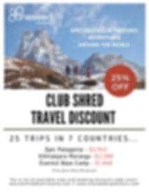 Club Shred_OneSeed Expeditions discount