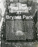 Ping Pong at Bryant Park