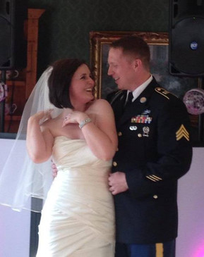 Our first dance when we got married