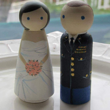 Our wedding cake topper that Devon's mom made for us