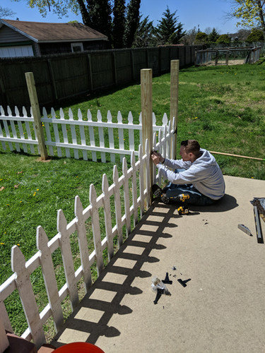 Devon building a fence for my garden