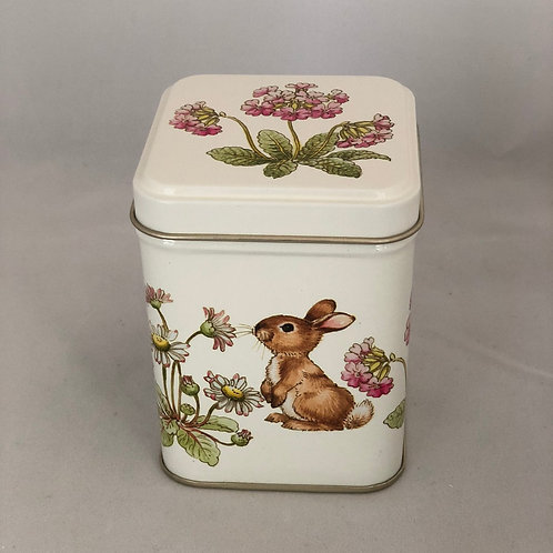Snoopy Little Rabbit Tall Square Tin - 16 Caramel Brownies
