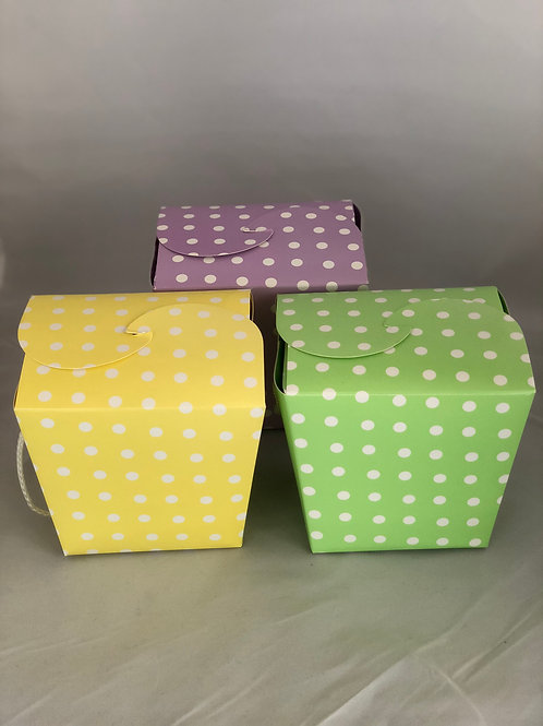 Polka Dot Quart Box - 30 Caramel Brownies