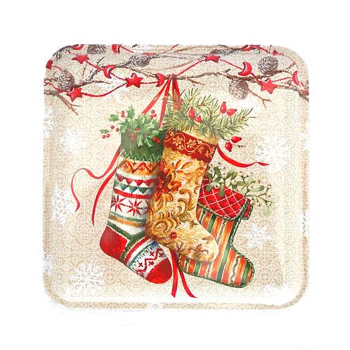 Small Square - Decorative Stockings Tin