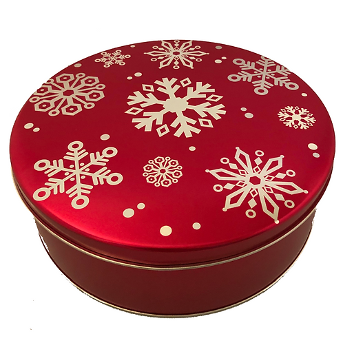 Extra Large Red with Snowflakes tin