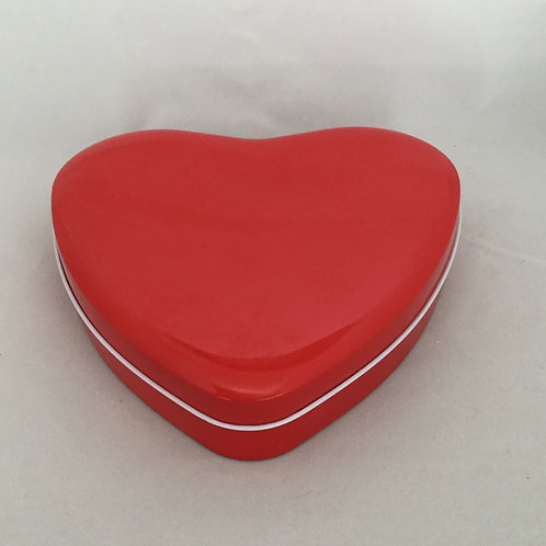 Caramel Brownies, Heart Tin of 18